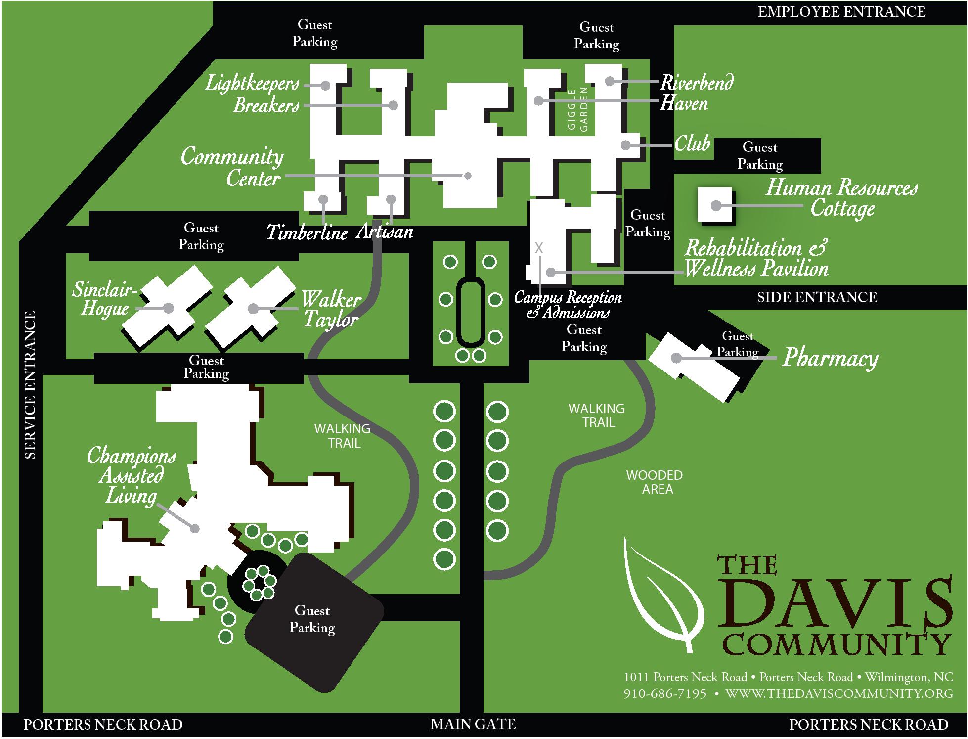 Davis Community Campus Map