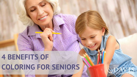 four benefits of coloring - for seniors