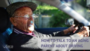 Read these tips to help you talk to your aging parent about driving.