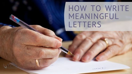Why writing letters is important and how to do so.
